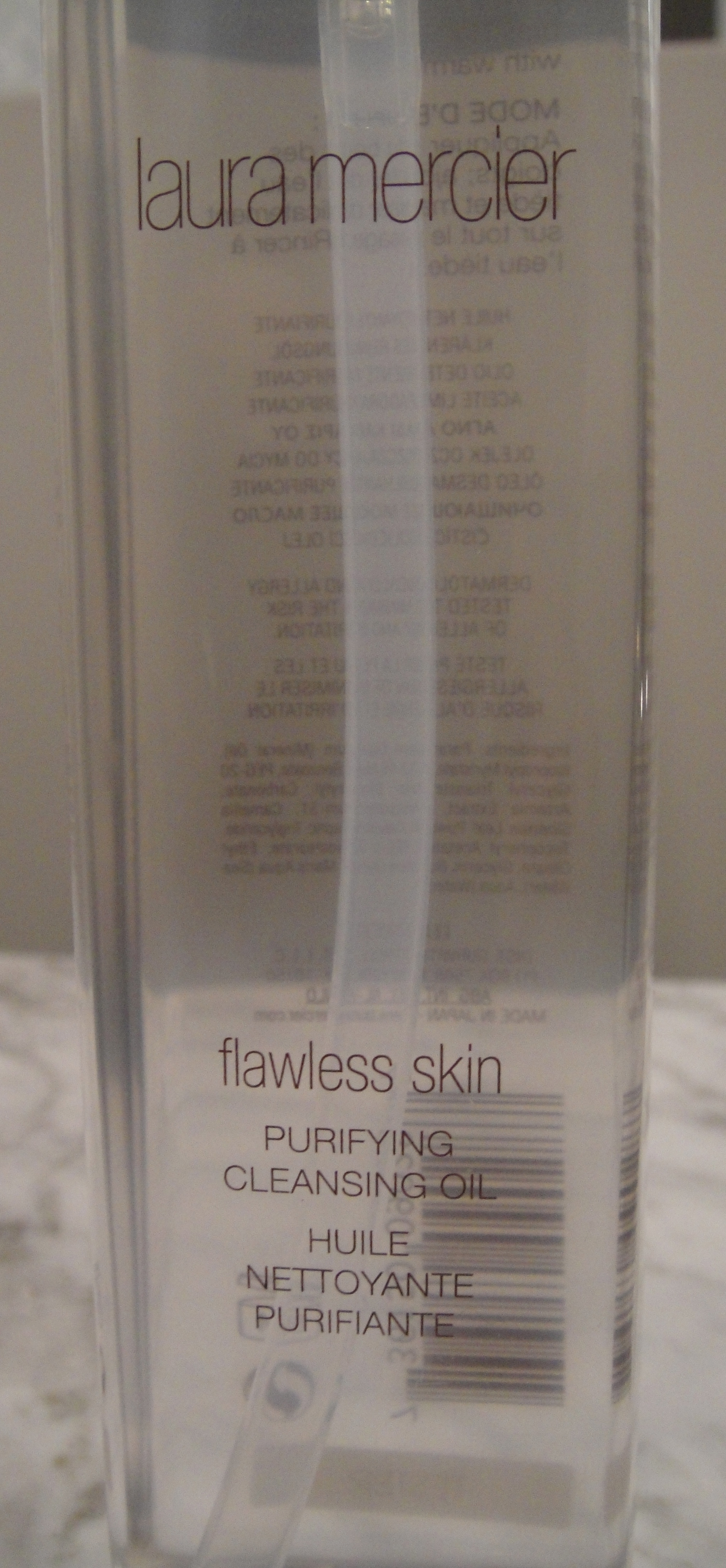 Step 1: Laura Mercier, Flawless Skin Purifying Cleansing Oil